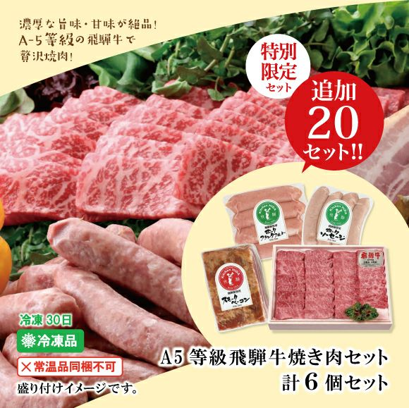 A5等級飛騨牛焼肉セット